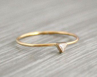 Anillo de bodas de diamante anillo de compromiso por capucinne