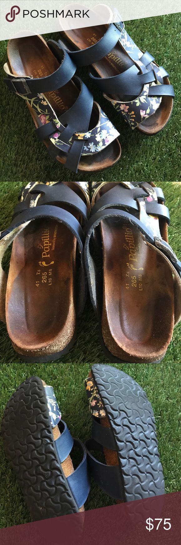 Papillio by Birkenstock sandals Navy blue/floral sandals made by Birkenstock. Size 41 (ladies 10) excellent used condition Birkenstock Shoes Sandals