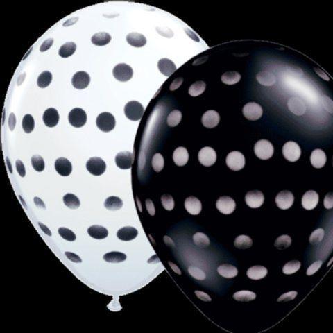 Polka dotted balloons