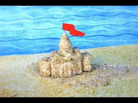 SAND CASTLE - Polymer Clay Tutorial - YouTube Uses real sand
