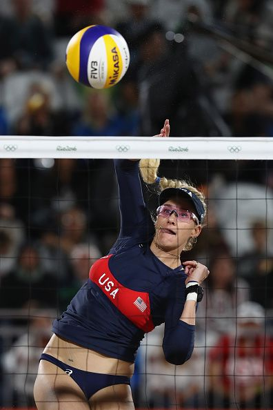 #RIO2016 Kerri Walsh Jennings of the United States in action during the Women's…