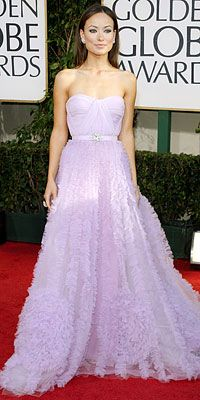 olivia wilde's golden globe dress. she looks like the princess of purple in it. SO BEAUTIFUL!