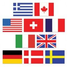 USA - With these mini cutouts  measuring 4½ inches and includes (10) different countries $2.29