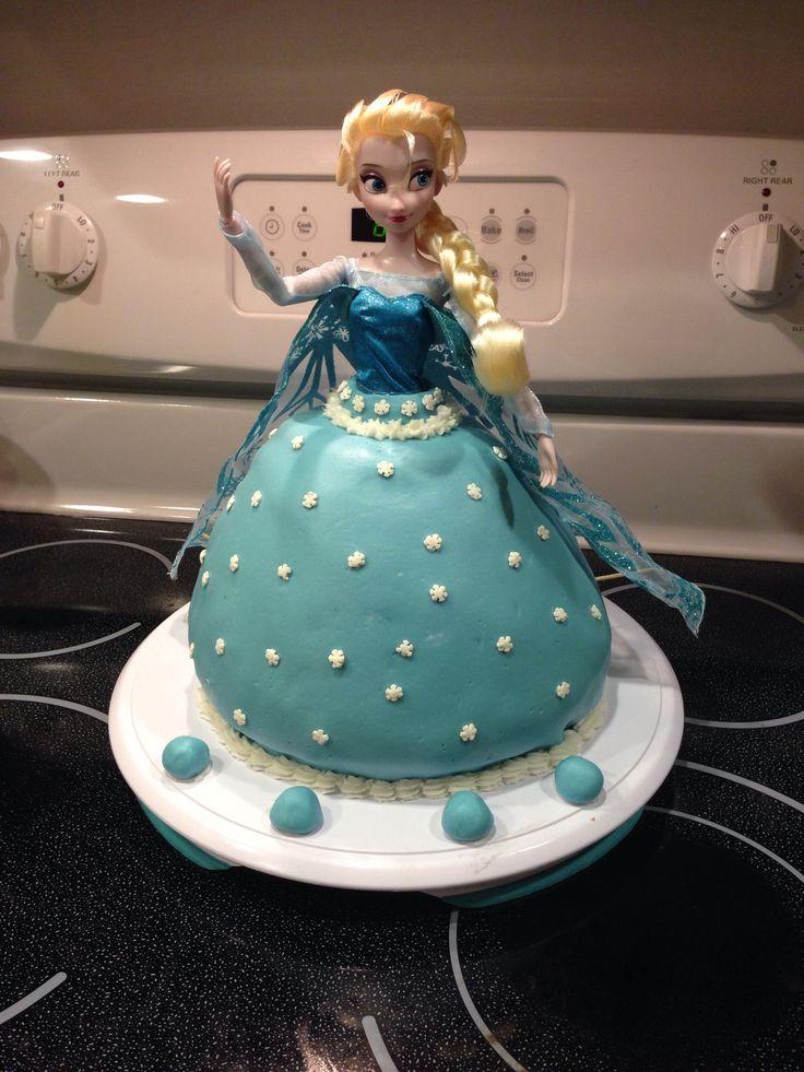 ... Frozen Doll Cake on Pinterest  Frozen barbie cake, Elsa birthday cake