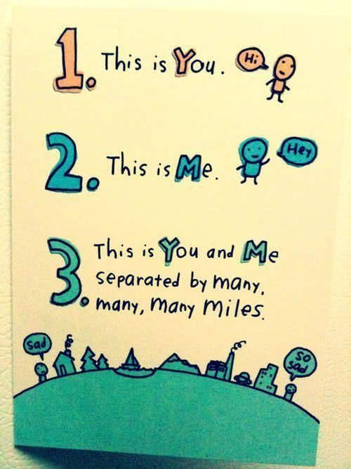 I love this card!  I sent it to Justin!  Totally perfect for Long Distance Relationships!