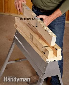 Use 2x4s for most cutting jobs