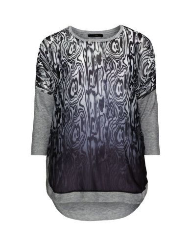 Stoffmix-Shirt mit Animal-Print von Ciso. Jetzt entdecken: http://www.navabi.de/shirts-ciso-stoffmix-shirt-mit-animal-print-grau-schwarz-23827-1424.html?utm_source=pinterest&utm_medium=social-media&utm_campaign=pin-it