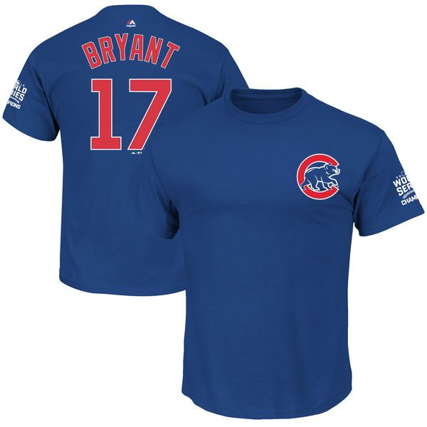 Kris Bryant Chicago Cubs Majestic 2016 World Series Champions Big & Tall Name and Number T-Shirt - Royal - $39.99