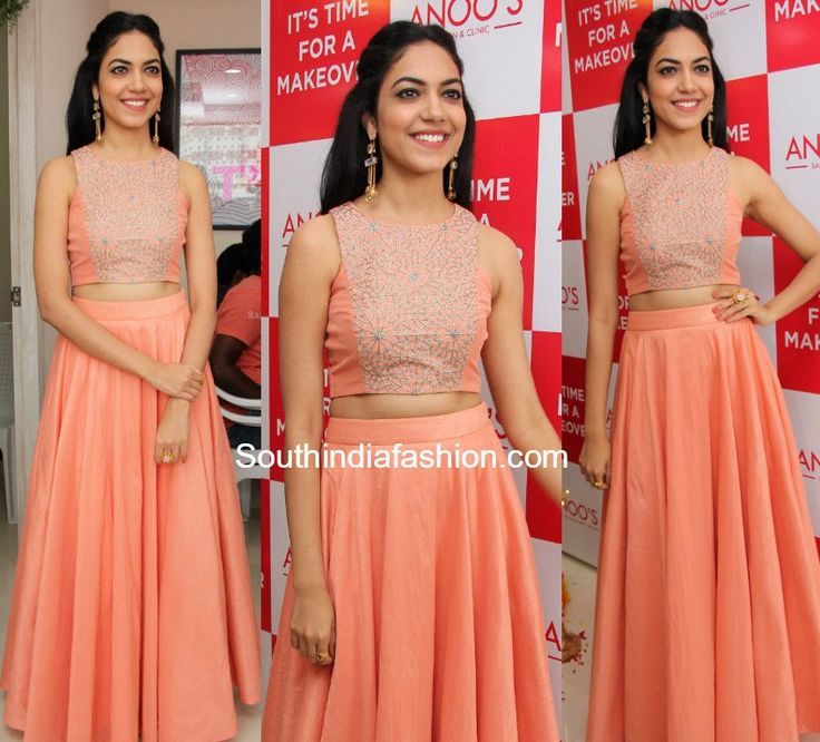 ritu_varma_peach_long_skirt_crop_top_anoos_salon_launch.jpg (848×768)