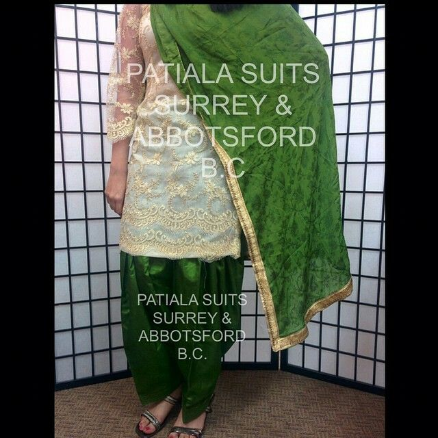 We ❤️ green! This green and gold combination is classic. This is a hand embroided pure silk net suit which has gold handwork completed all over it's kameez including arms. As you can see, the metallic green full patiala salwar has a shine which makes the suit look elegant. It is of pure silk and comes with a self chinnon  finished dupatta. Please email us at patialasuits179@gmail.com or give us a call at 1(604)-780-8190 for pricing inquiries  #punjabisuit #punjabifashion #salwarsuit…