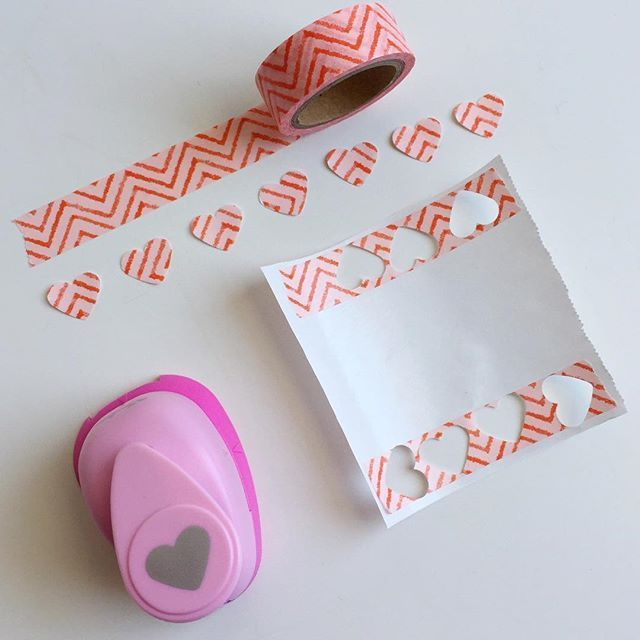 Put washi tape on freezer paper to punch it, and you'll get some cute, simple planner stickers!
