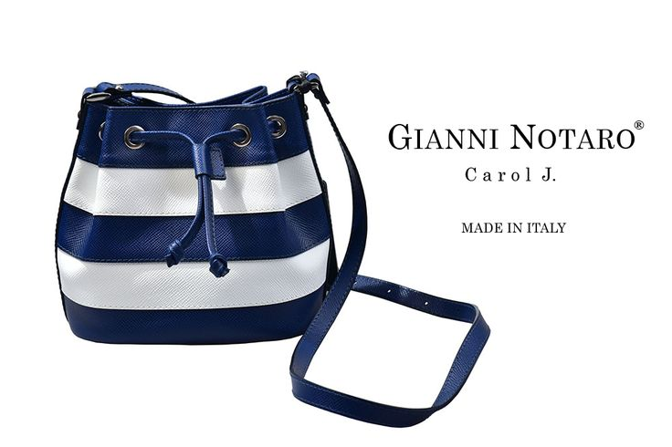 Stripes are back! And we love it! Wooden detail and leather design for the new Gianni Notaro handbag collection. Discover more in Galleria Di Scarpe.