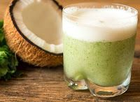 Suco de Água de Coco, Abacaxi, Hortelã e Gengibre ...