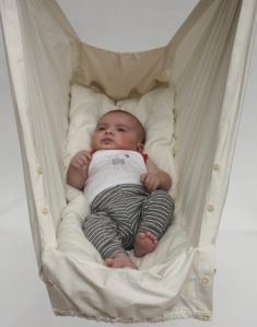 Baby hammock: a gentle, womb-mimicking alternative for those who do not wish to or cannot co-sleep.  See improved features to promote air circulation.