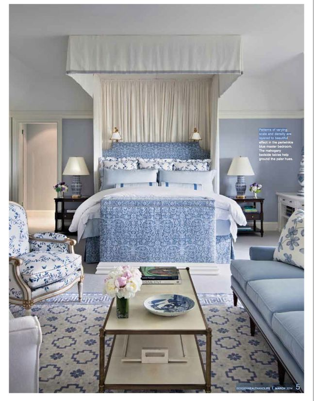alexa hampton blue and white bedroom - Blue And White Bedroom Designs