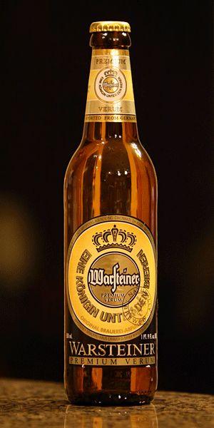 Warsteiner Premium Verum, my favorite beer of choice. Prost!!!!!