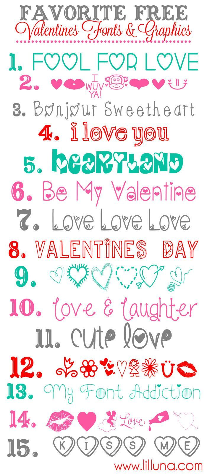 Free Valentines Fonts And Graphics Diy And Crafts
