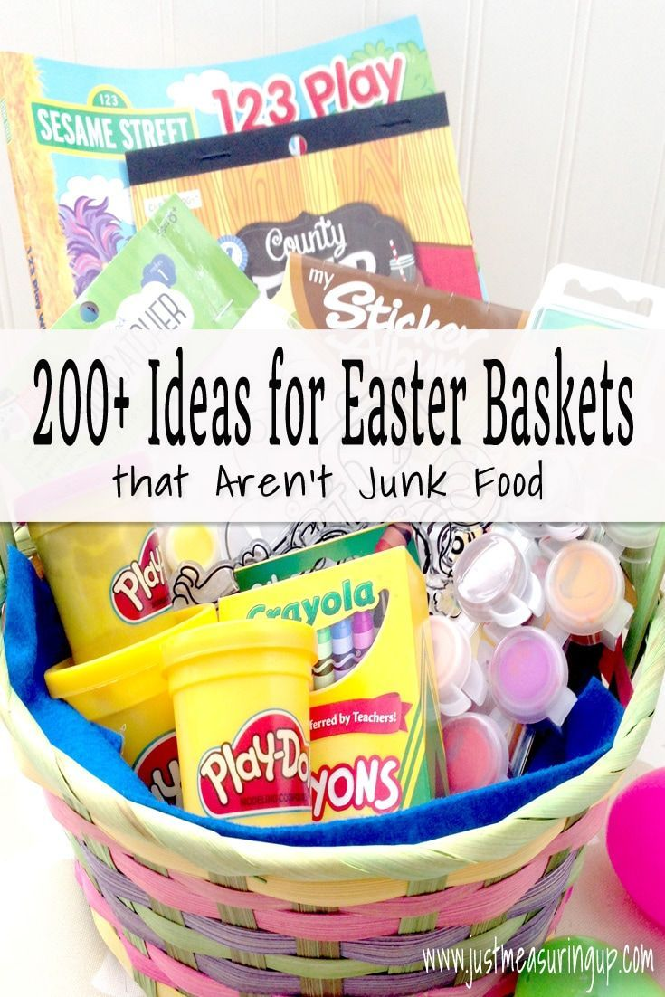 1511 best fabulous gift ideas images on pinterest diy presents 200 ideas for candy free easter baskets that kids and adults will love negle Image collections