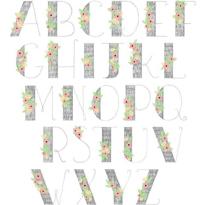 FLEURS DU JARDIN  An alphabet :: Frankie Magazine issue #45 by Amy Borrell