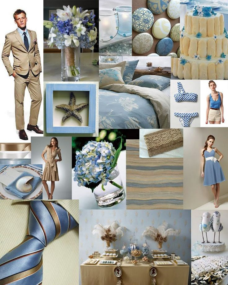 Spring Wedding Colors: Slate Blue & Khaki