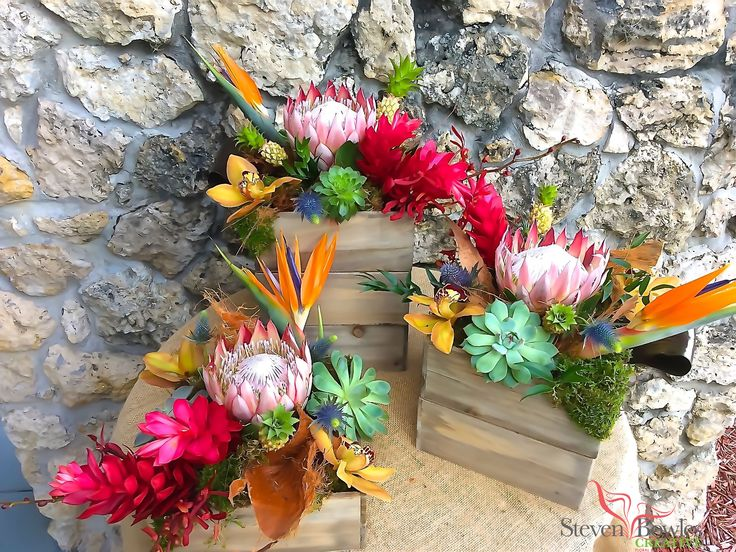 Best images about tropical flower arrangements by