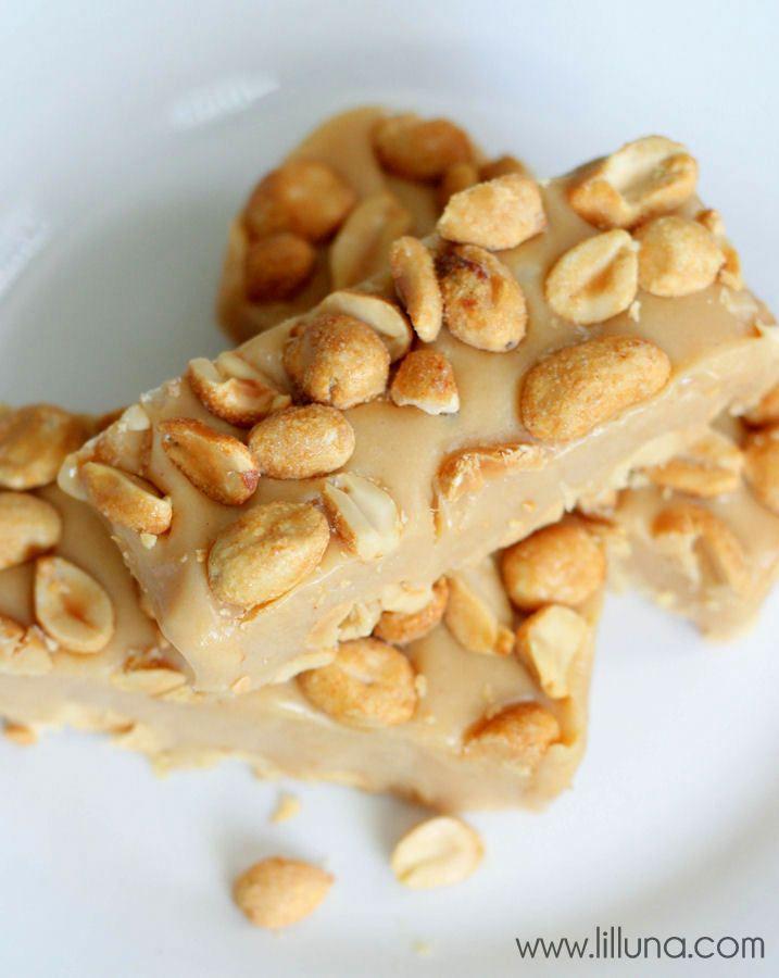 Delicious Homemade Pay Days Candy Bar recipe on { lilluna.com }
