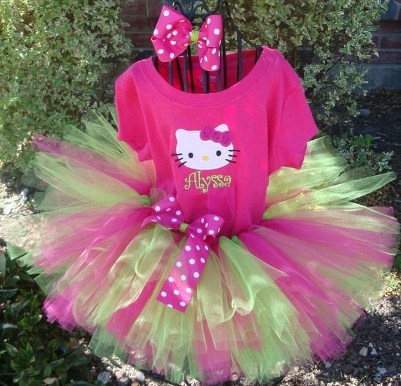 She wants an outfit similar to this...: Kitty Birthday, 3 Tutus, Hellokitti Pimped, Stuff, 2Nd Bday, Tutu Sets, Birthday Outfits, Kids Rooms, Hello Kitty Tutu