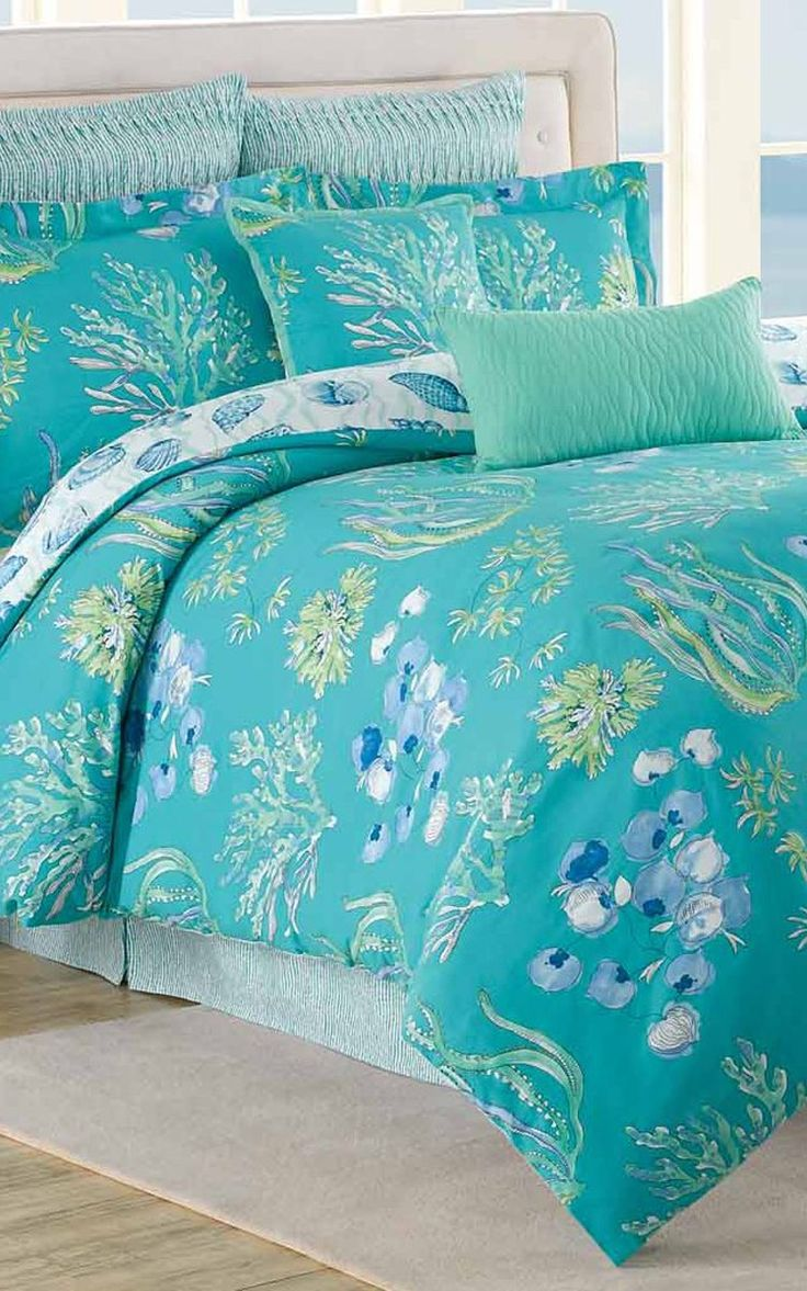 Bright blue bedding - Turquoise Bedding Like This Bright Color