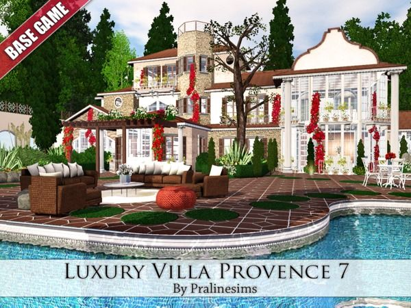Lana CC Finds - Luxury Villa Provence 7 by Pralinesims
