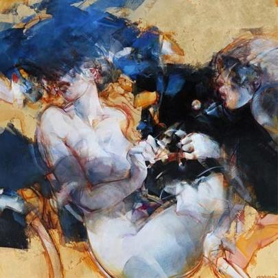 SALTARELLI Vanni  Accord d'Amour  Technique mixte sur toile  Format (cm) : 100 x 100  Ref : SA001    GALERIE MICKAËL MARCIANO Accord d'Amour | galerie-marciano.fr/en - via http://bit.ly/epinner