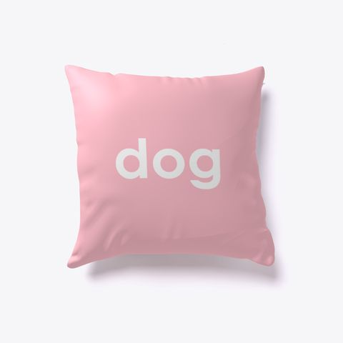 Dog And Cat Reversible Pillow Pink. Dog lover? Cat lover? Evenly split household? Now you can show your love for both with our reversible dog-cat pillow. Just turn it over to impress guests who love one over the other. Buy one today!