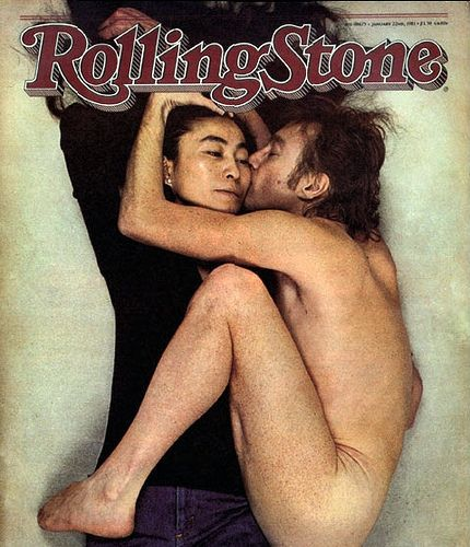 Rolling Stone cover with john lennon and Yoko ono. #magcovers #rollingstonemag http://www.pinterest.com/TheHitman14/musicover-shots/