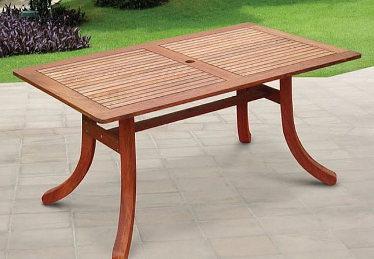 Patio Table Outdoor Furniture Garden Dining Set Pool Tables Solid Wood Sturdy  #PatioTable01544