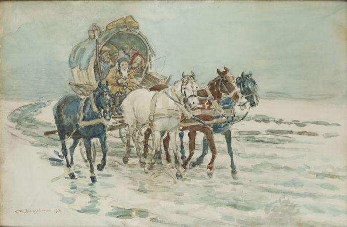 Stanisław Masłowski - W podróży, 1914 r.