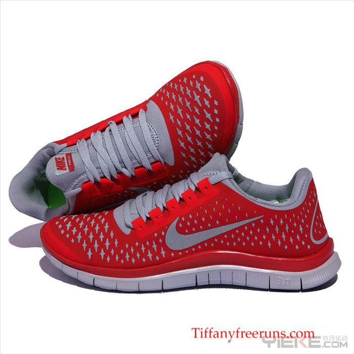 Nike Free 3.0 V4 Gym Red Sail Reflect Silver 511457 009 � Men Running  ShoesNike ...