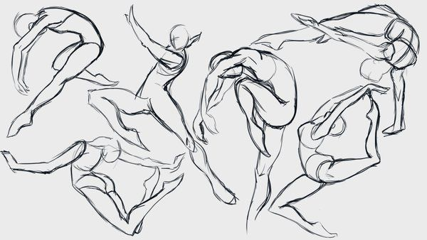 Drawing Ballet poses is harder than I thought #ballet #sketch