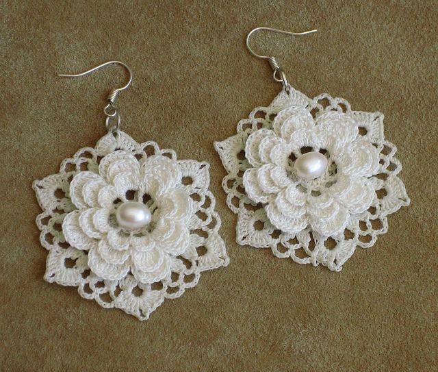 Irish lace earrings | Flickr - Photo Sharing!