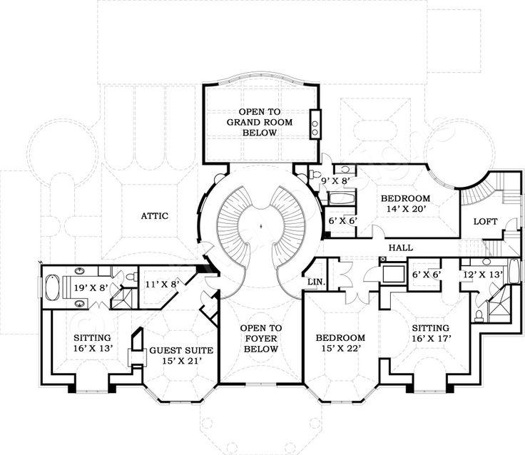 ashburton luxury home blueprints mansion floor plans - Home Blueprints