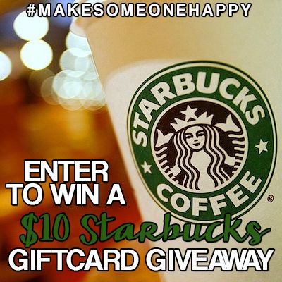 Attention Coffee Addictions! Want a $10 Starbucks Giftcard? #MakeSomeoneHappy