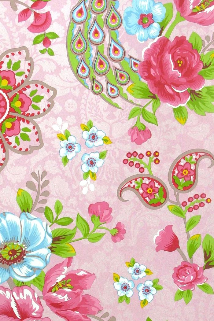 PiP Flowers in the Mix Pink wallpaper