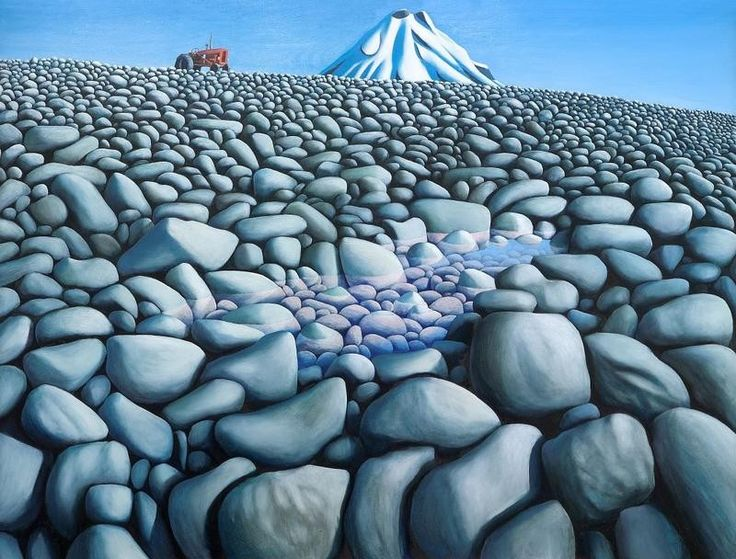 Rocks with mountain; Michael Smither; 1968; 1969/2 - Auckland Art ...