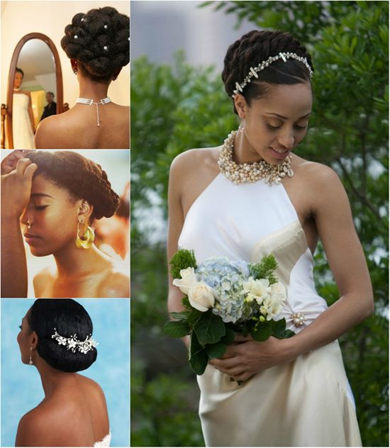 Ghanaian Bridal Styling With Straight Hair: 6 Fabulous Black Women Wedding Hairstyles In Fall 2013