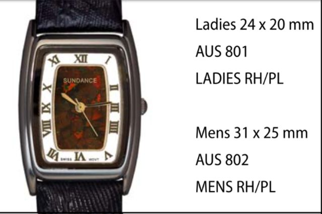 "Australian ""Boulder"" Opal Watches Style 801 Ladies RH/PL 24 x 20 mm each click here to add to cart"