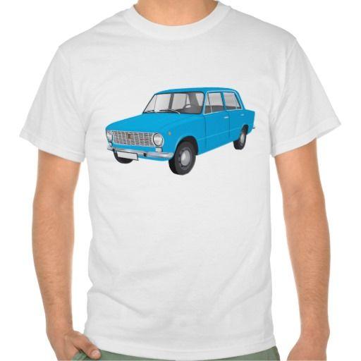 FIAT 124 Berlina blue  #fiat124 #60s #automobile #automobiles #tshirt #tshirts #car #italy #italia