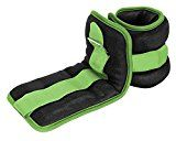 Reehut Durable Ankle/Wrist Weights (1 Pair) w/ Adjustable Strap for Fitness Exercise Walking Jogging Gymnastics Aerobics Gym  Green  1 lbs (2) Reviews
