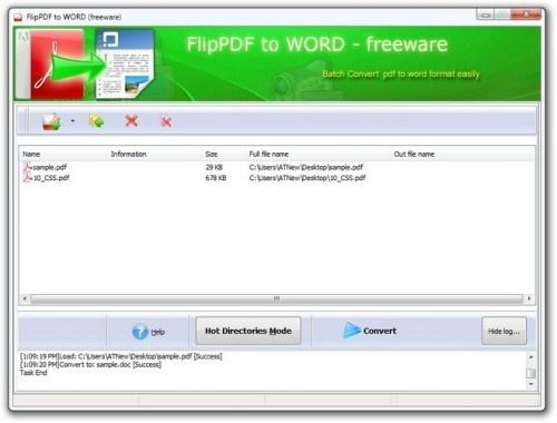 Flip PDF to Word, convertir ses PDF en DOC automatiquement ou en masse