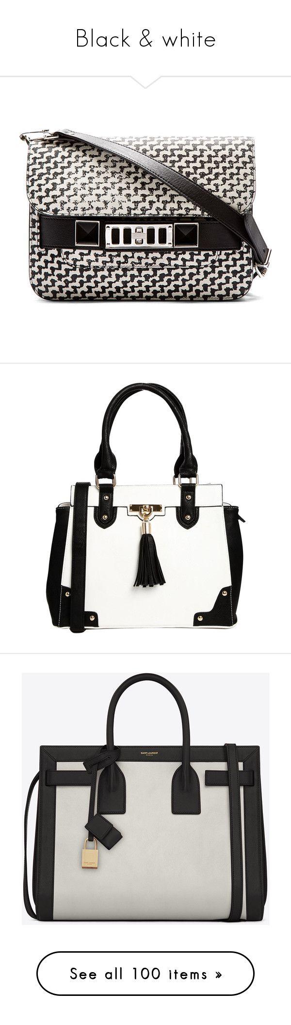 """Black & white"" by bliznec ❤ liked on Polyvore featuring bags, handbags, shoulder bags, purses, bolsas, accessories, borse, man shoulder bag, flap purse and mini shoulder bag"