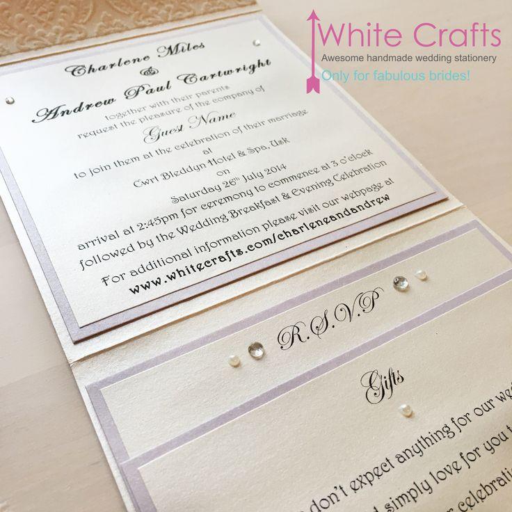 flock, pearl, sprakle, lace, damask, lilac, pastle uk wedding invitations. Bespoke uk wedding invitations www.whitecrafts.com Invitations | White Crafts handmade uk wedding invitations. #pearlwedding #lacewedding #wedding #weddings #UKWeddingInvitations #UKWeddingInvites #PocketWeddingInvitations