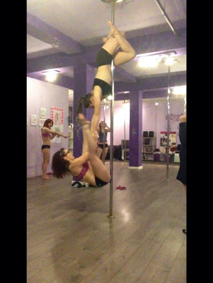 Doubles spinny pole fun