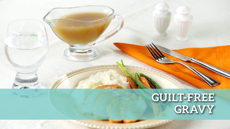 Skimping on the gravy is just wrong, but you can feel alright about that extra spoonful you just snuck with our Guilt-Free Gravy! Check out the recipe here: https://www.makegood.ca/recipe/guilt-free-gravy #makegood #recipe #food #healthy #entertaining #family #Christmas #holiday #dinner
